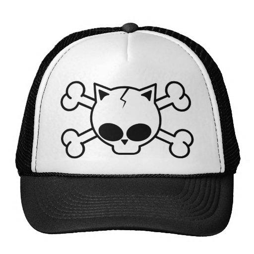 Skull and Cat Bones Mesh Hat