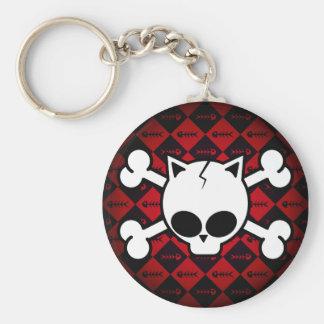 Skull and Cat Bones Keychain