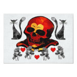 Skull and Cats 5x7 Paper Invitation Card