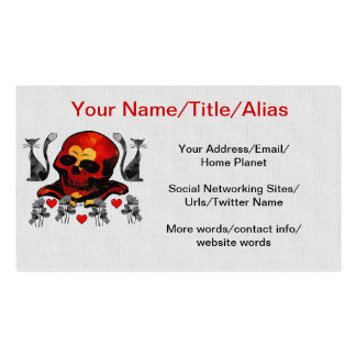 Skull and Cats Business Cards