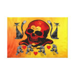 Skull and Cats Gallery Wrapped Canvas