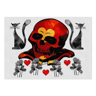 Skull and Cats Large Business Card