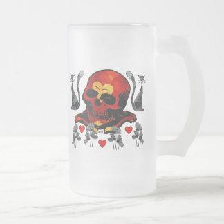 Skull and Cats Mugs
