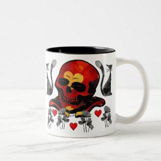 Skull and Cats Coffee Mugs