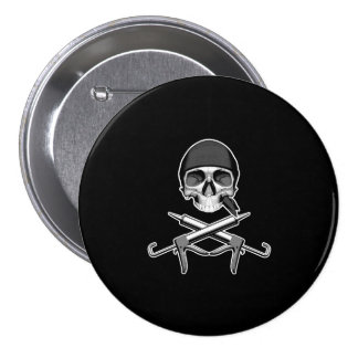 Skull and Caulking Guns Pinback Button