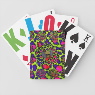 Skull and Cheetah Bling Pattern Bicycle Poker Cards