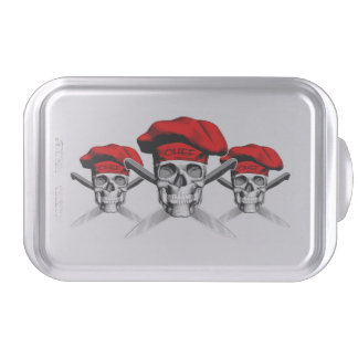 Skull and Chef Knives: Red Hat Cake Pan