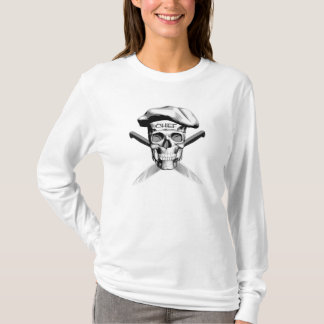 Skull and Chef Knives: White Hat T-Shirt