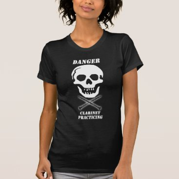 Halloween Themed Skull and Clarinets T-Shirt