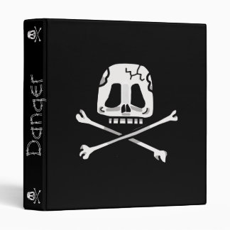 Skull and Cross Bone Binder! Vinyl Binder