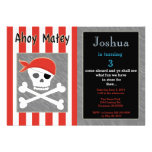 Skull And Cross Bone Birthday Invitation