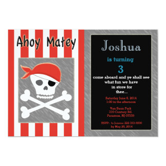 Skull And Cross Bone Birthday Invitation