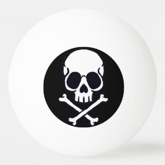 Skull and Cross bone ping pong ball