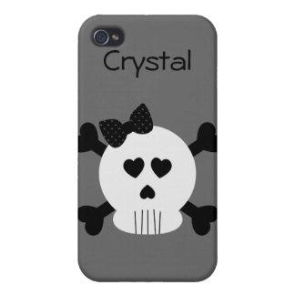 Skull and Cross Bones 3 iPhone 4 Case