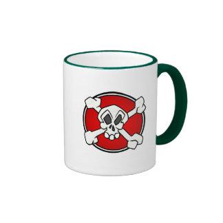 Skull and cross bones baby t-shirt coffee mugs