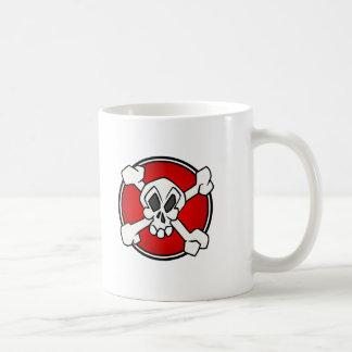 Skull and cross bones baby t-shirt mugs