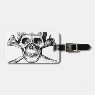 Skull and Cross Bones Bag Tag