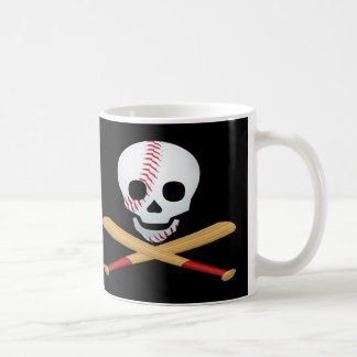Skull and Cross Bones Baseball Style Coffee Mug