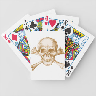 Skull and Cross Bones Bicycle Playing Cards