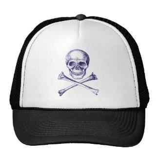 Skull and Cross Bones - Blue Trucker Hat