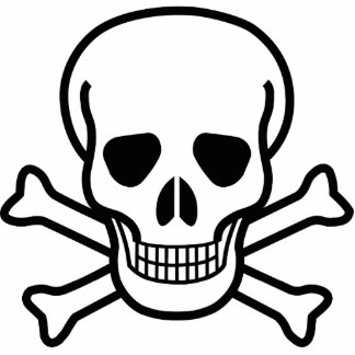 Skull and Cross Bones Cutout