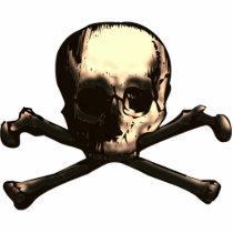skull, skulls, cross, bones, crossbones, bone, pirate, pirates, skeleton, skeletons, anatomy, scary, halloween, holiday, holidays, dead, death, dark, head, october, Photo Sculpture with custom graphic design