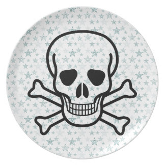 Skull and Cross Bones Dinner Plate