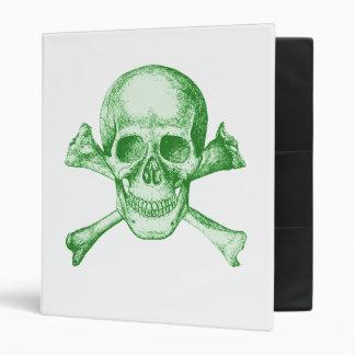 Skull and Cross Bones - Green Binder