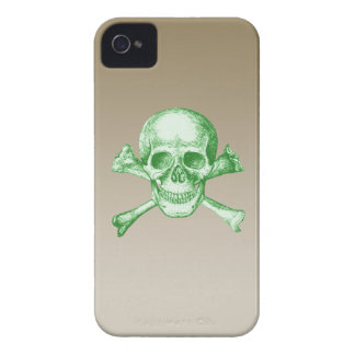 Skull and Cross Bones Green Case-Mate iPhone 4 Case