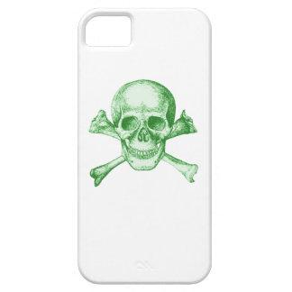 Skull and Cross Bones Green iPhone SE/5/5s Case