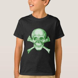 Skull and Cross Bones Green T-Shirt