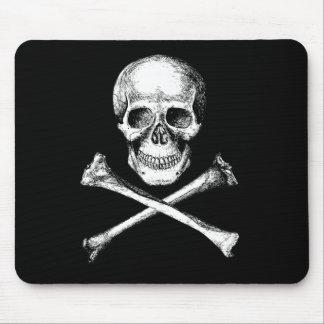 Skull and Cross Bones Grey Mouse Pad