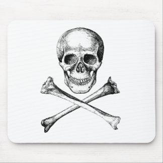 Skull and Cross Bones - Grey Mouse Pad