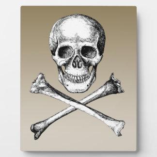 Skull and Cross Bones Grey Plaque