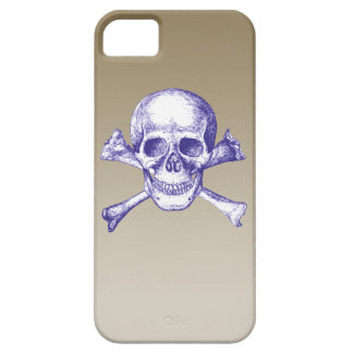 Skull and Cross Bones in Blue iPhone SE/5/5s Case