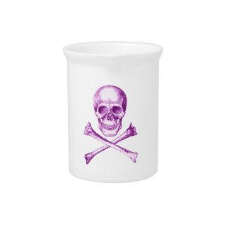 Skull and Cross Bones in Purple Pitchers
