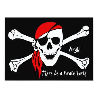 Skull and Cross Bones Custom Invites