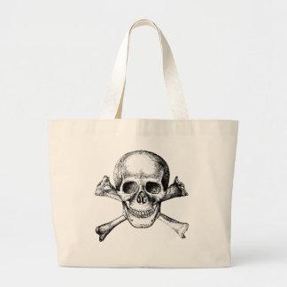 Skull and Cross Bones Large Tote Bag