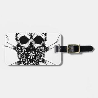 Skull and Cross Bones Luggage Tag