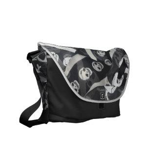 SKULL AND CROSS BONES MESSENGER BAG