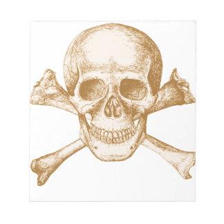 Skull and Cross Bones Notepad