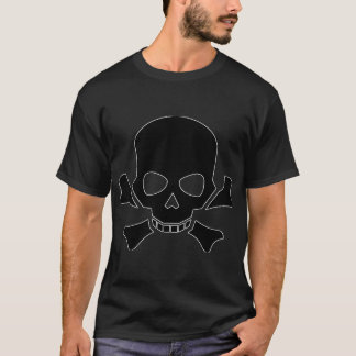 Skull and Cross Bones Outline Shirt