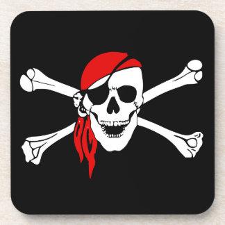 Skull and Cross Bones Pirate Drink Coaster