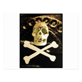 Skull and Cross Bones Postcard