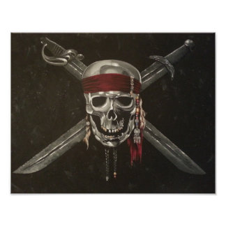 Skull and Cross Bones Poster