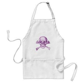 Skull and Cross Bones - Purple Aprons