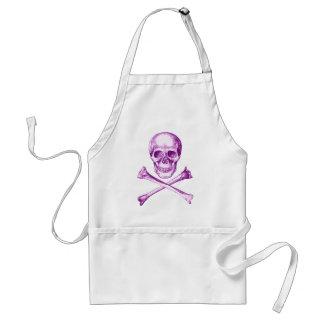 Skull and Cross Bones - Purple Apron