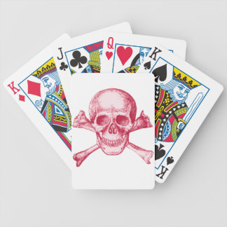 Skull and Cross Bones Red Bicycle Playing Cards