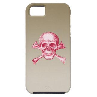 Skull and Cross Bones Red iPhone SE/5/5s Case