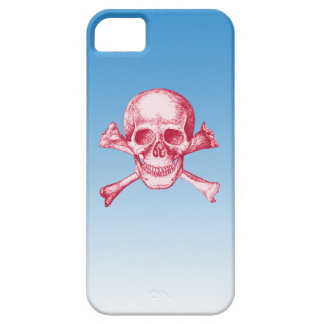 Skull and Cross Bones Red iPhone SE/5/5s Case